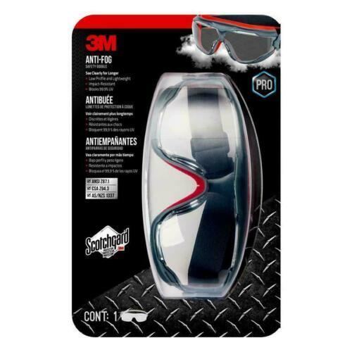 Safety Goggles Antifog w/Scotchgard- NEW