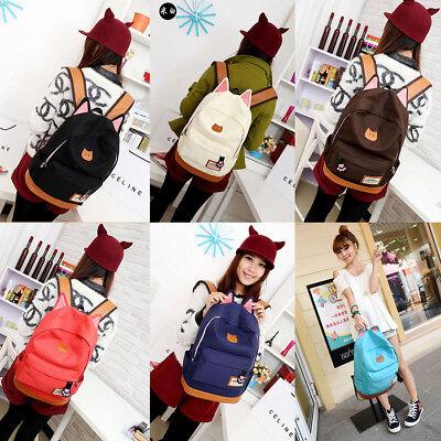 Fashion Girl Lovely Cat Ear Backpack School Bag Student Shoulder Bags for Gift - Gift Bags For Girls