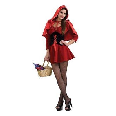 Damen Erwachsener Reiz Rotkäppchen Korsett Kostüm Kleid Outfit