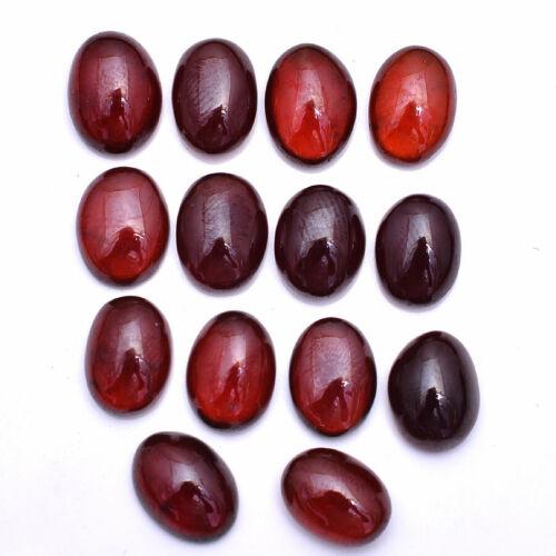 93.00 Cts Natural Hessonite Garnet Untreated Cabochon Gemstones Lot 12mm-13mm
