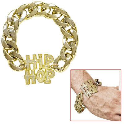 HIP-HOP ARMBAND # Rapper Gangster Gold Kette Zuhälter - Hip Hop Rapper Kostüm