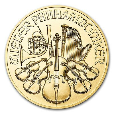 2017 Austria 1 oz Gold Philharmonic Coin Brilliant Uncirculated - SKU #115852