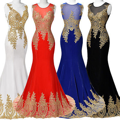 2017 Long MERMAID Bridesmaid Evening FORMAL Party Cocktail Dress Lady Gown Prom
