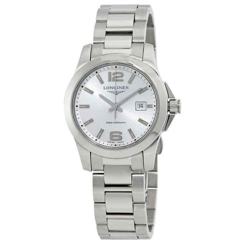 Longines Conquest Silver Dial Ladies 29.50 mm Watch L33764766