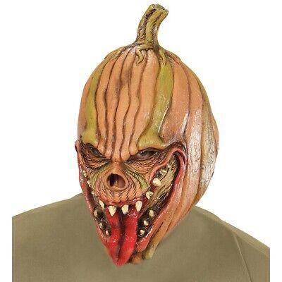 HORROR KÜRBISKOPF MASKE Latex Freaky Kürbis Pumpkin Halloween Kostüm Party 00400