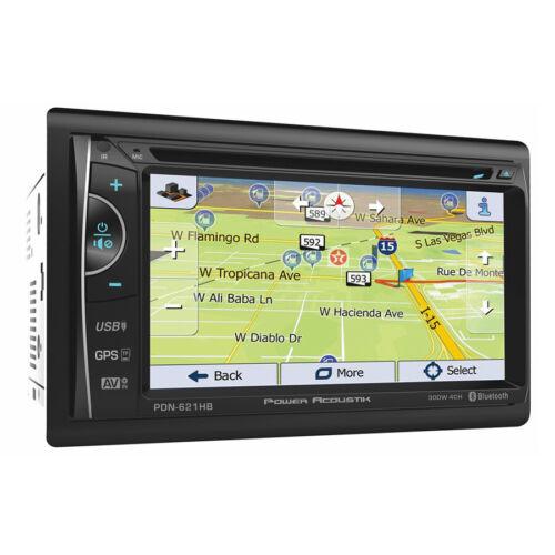 "Power Acoustik PDN-621HB Double DIN CD/DVD Player 6.2"" GPS Navigation Bluetooth"