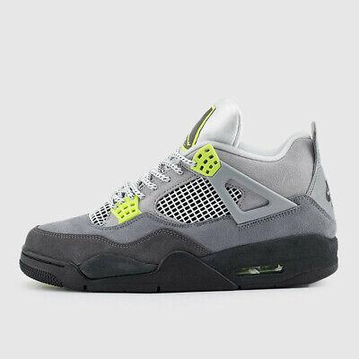 Nike Air Jordan Retro 4 Air Max 95 NEON Cool Grey Volt Wolf CT5342-007 Sz 4y-13