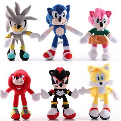 New Sonic hedgehog Plush doll Best Xmas Gift soft Cotton kids Toys Free