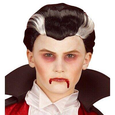 KINDER VAMPIRPERÜCKE # Halloween Vampir Perücke Dracula Jungen Kostüm Party 6278