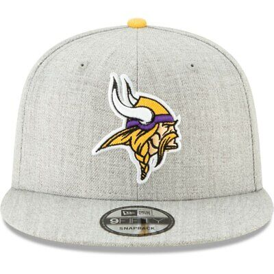 Minnesota Vikings New Era Hype 2 9FIFTY Adjustable Snapback Hat - Heathered Gray