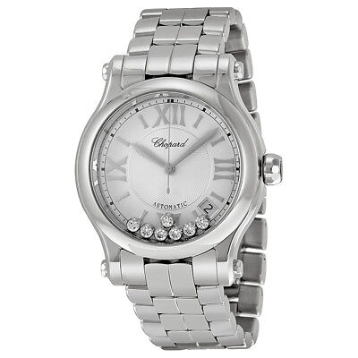 Chopard Happy Sport Automatic Silver Dial Ladies Watch 278559-3002