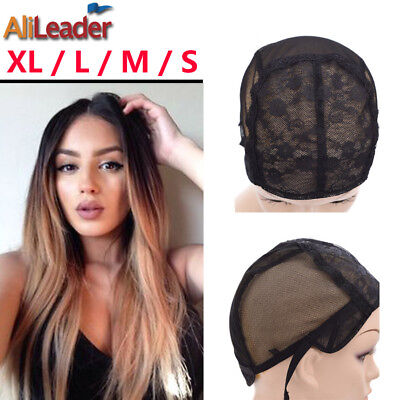 Best Wig Cap For Making Wigs With Adjustable Strap Lace Wig Weaving CapsS M L