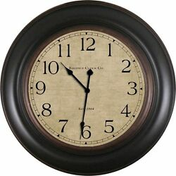 Baldauf Clock Company Oil Rub 30 Black Large Oversized Round Wall Clock,Modern