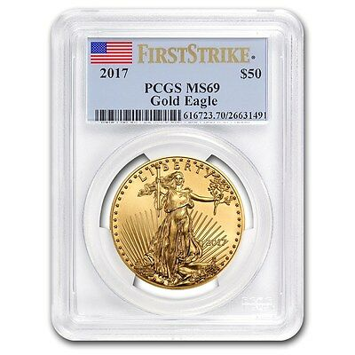 SPECIAL PRICE! 2017 1 oz Gold American Eagle MS-69 PCGS (First Strike)