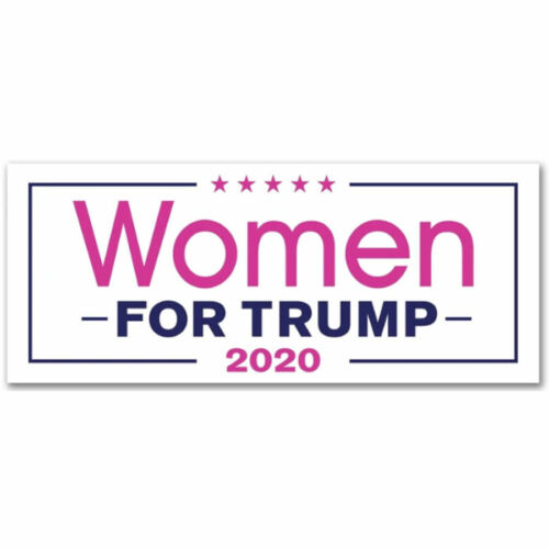 Women For Donald Trump President 2020 Bumper Sticker