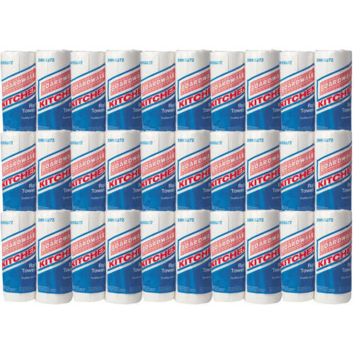 Embossed Paper Towels 30 Roll Case 85/Roll 2-Ply White Bathroom Household Clean