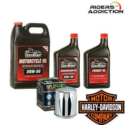 HardDrive HiFlo Harley Davidson Complete Oil Change Tune Up Kit 20W50 6 Quarts