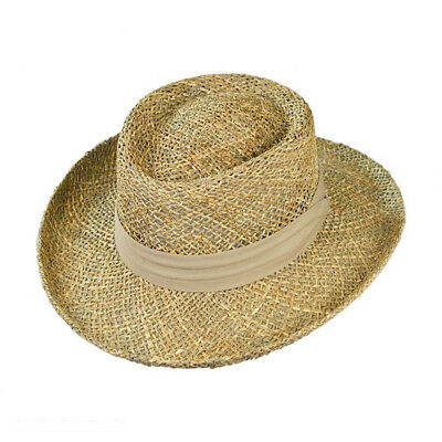 Jaxon Hats Pebble Beach Seagrass Straw Gambler Hat Seagrass Gambler Hat