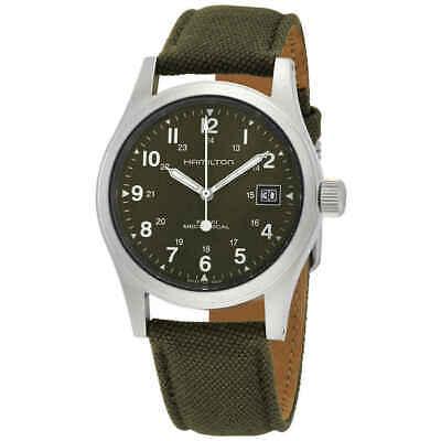 Hamilton Khaki Field Mechanical Green Dial Men's Watch H69439363