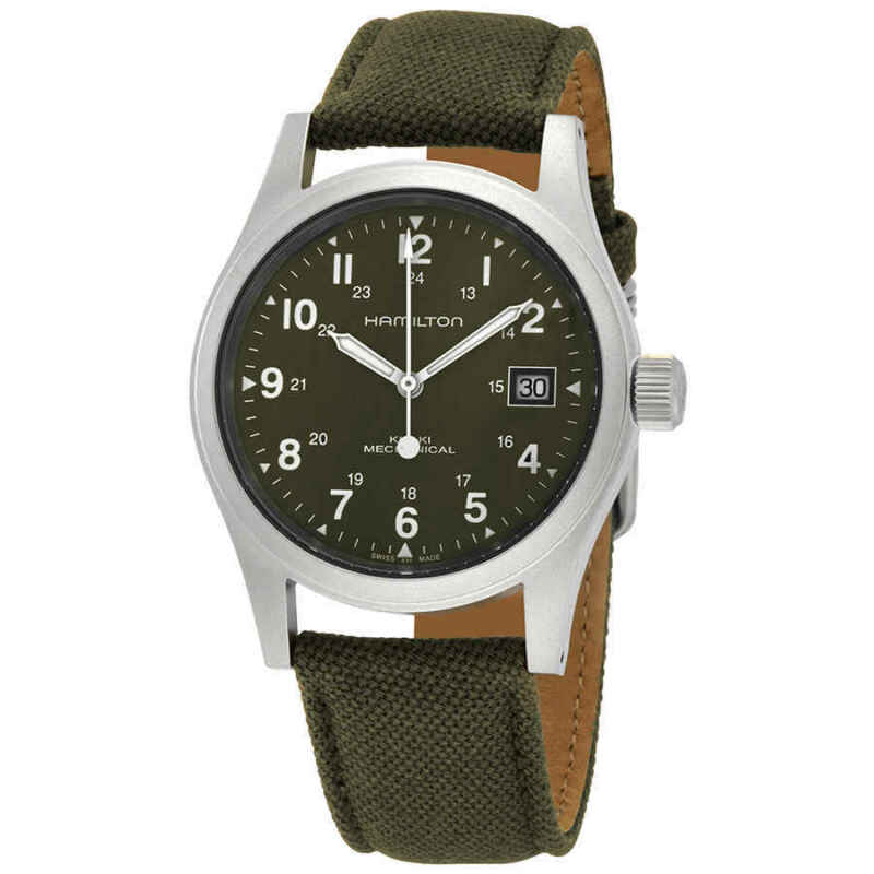 Hamilton-Khaki-Field-Mechanical-Green-Dial-Men-Watch-H69439363
