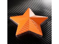 Orange Vinyl 3d Car-Van-Multi use Wrap sheets, great quality and all sizes