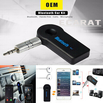 Wireless Bluetooth 3.5mm AUX Audio Stereo Music Car Receiver Adapter New Kit