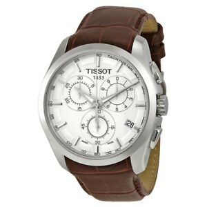 Tissot T-Trend Couturier Chrono Brown Leather Band Watch T0356171603100
