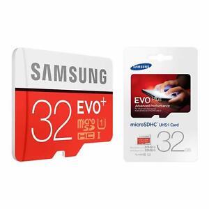 Samsung 32GB Class 10 UHS-I U1 EVO Plus MicroSD MicroSDHC 80MB/S Memory Card