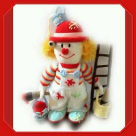 Soft toy painting clown