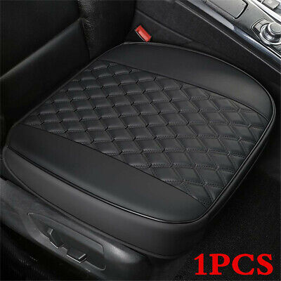 Auto Front Seat Cushion PU Black Leather Car Chair Mat Cover Accessories 53X52cm
