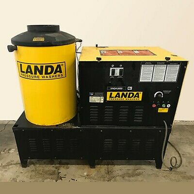 Used Landa Vhg4-30024h 3phnatural Gas 4gpm 3000psi Hot Water Pressure Washer