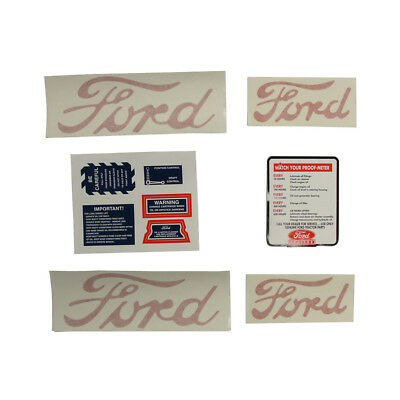 8n5052dp Decal Set For 8n Ford Tractors 1950 To 1952 Models With Proofmeter