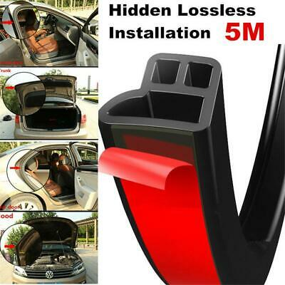1x 5M Trim Moulding Hood Car Door Edge L Shape Rubber Weatherstrip Seal Strip