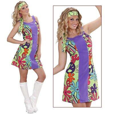 DAMEN HIPPIEKOSTÜM # Karneval 60er 70er Jahre Hippie Kostüm Hippiekleid S 36/38 (70er Jahre Kostüme)
