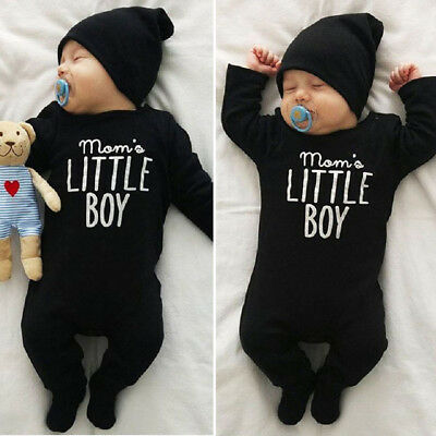 US Stock Cute Newborn Baby Boys Cotton Romper Jumpsuit Bodysuit Outfits Clothes