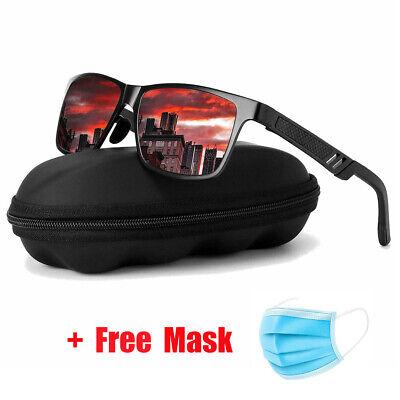 Mens HD Polarized Sunglasses Al-Mg Metal Frame AviatorDriving UV400 glasses Men