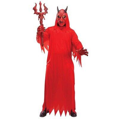 FELSMASKE Halloween Karneval Herren Teufel Kostüm M/L-XL1015 (Herren Teufel Halloween-kostüme)