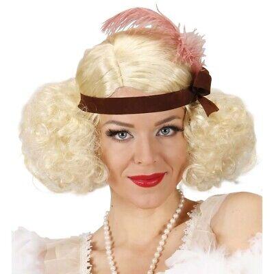 CHARLESTON PERÜCKE BLOND # Karneval 20er Jahre Damen Burlesque Show Flapper 9078 ()