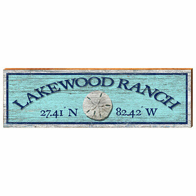 Lakewood Ranch FL Sign Printed On Real Wood 30