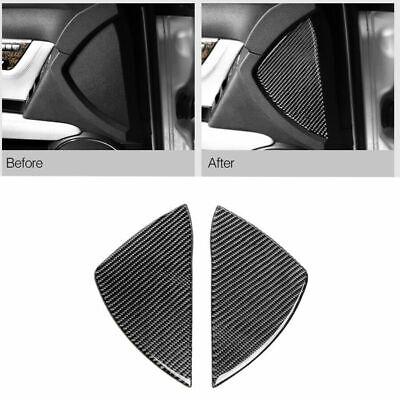 2Pcs Carbon Fiber Interior Cover Trim For Mercedes-Benz C Class W204 2007-2013