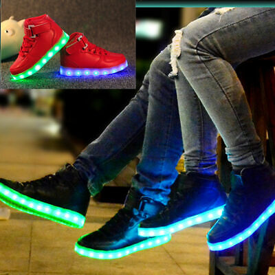 7 LED Light Lace Up Luminous Shoes Sportswear Sneaker Casual Shoes Unisex