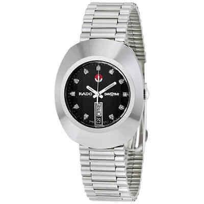 Rado Diastar Automatic Black Dial Diamond Stainless Steel Men's Watch R12408613