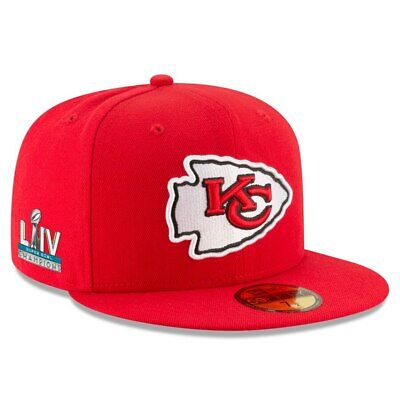 Red Kansas City Chiefs New Era Super Bowl LIV 54 Champions Patch 5950 Fitted