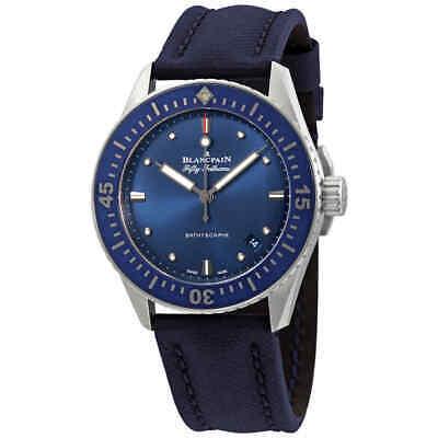 Blancpain Fifty Fathoms Bathyscaphe Automatic Blue Dial Men's Watch