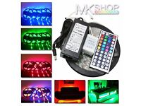 Non-Waterproof 5M 5050 RGB LED SMD 300 LEDS Strip Light Full Kit Party Wedding
