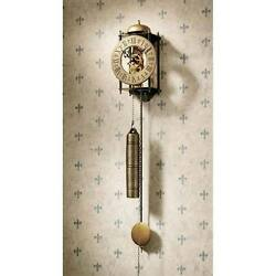 Exposed Gears Wall Clock with Pendulum Open Heart Regulator