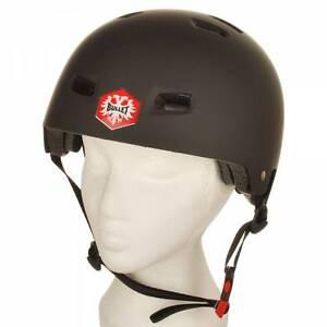 Bullet Skateboard Helmet Flat Black - Size: Large
