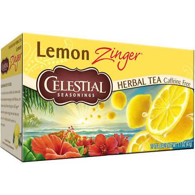 Celestial Seasonings Lemon Tea - Celestial Seasonings 100% Natural Lemon Zinger Herbal Tea 20 ct
