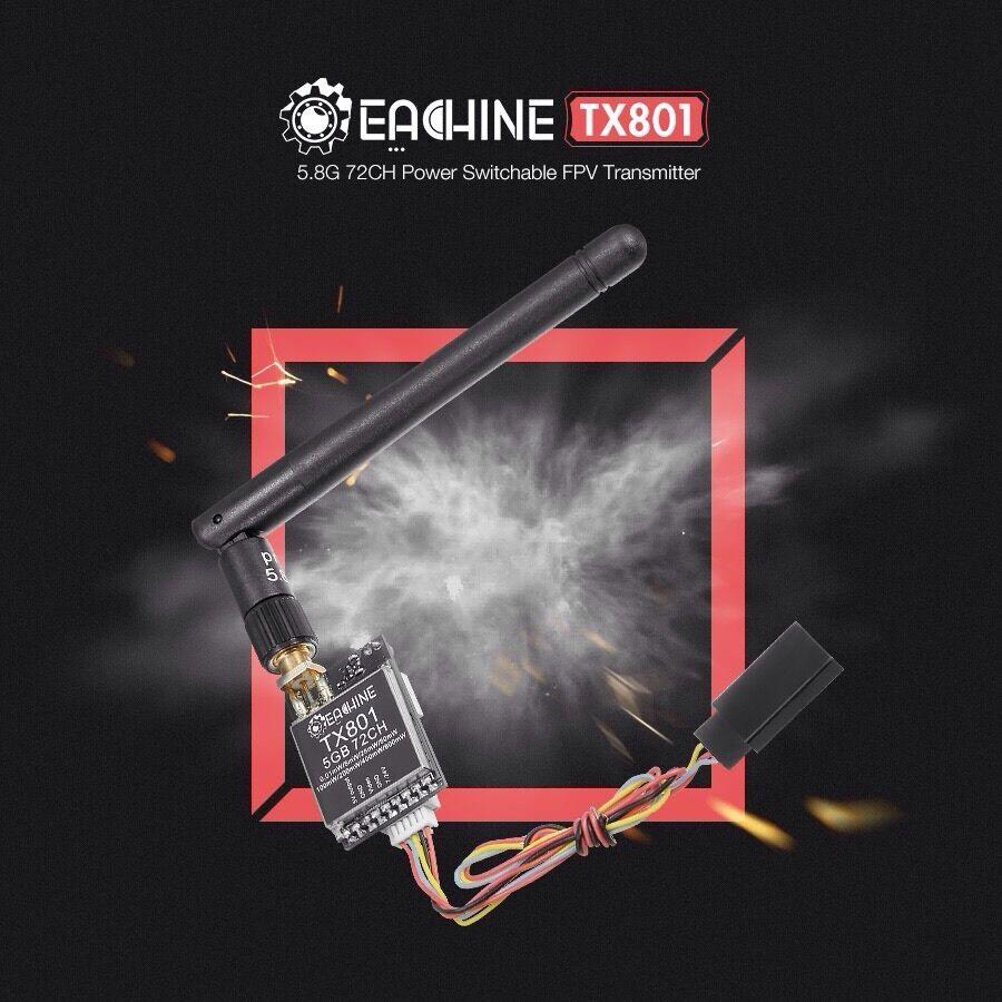 Eachine TX801 FPV Sender 5.8G 72Ch 0,01mW - 600mW regelbar Transmitter
