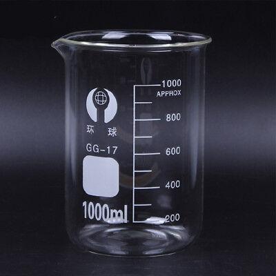 Set 500 1000ml Chemistry Laboratory Glass Beaker Borosilicate Measuring Glasswar